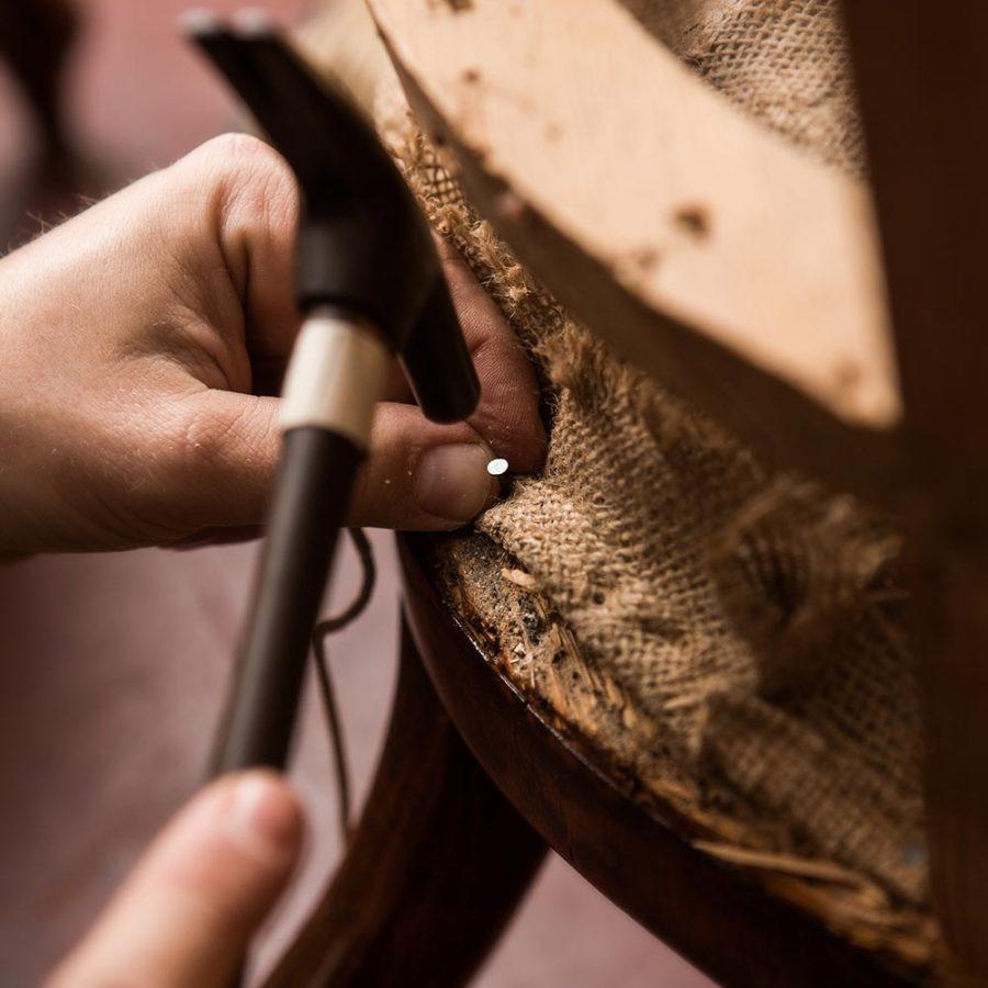 Renovierung eines Stuhls
